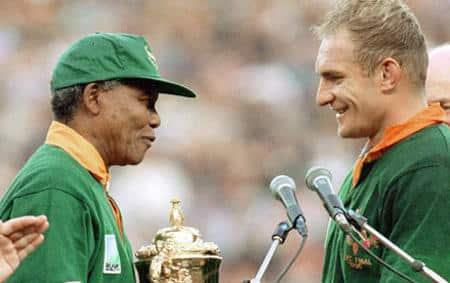 Francois Pienaar et Nelson Mandela