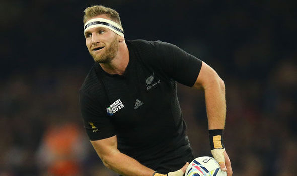Kieran Read sous maillot all blacks
