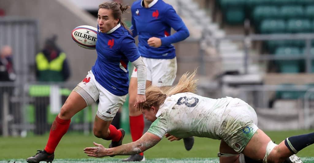 L'équipe de France contre les Red Roses